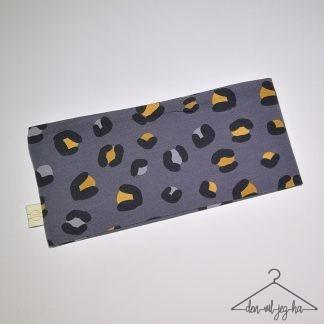 Okergul leopardprint