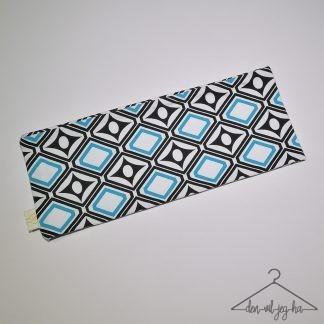 Mønstret svart og isblå