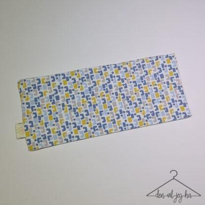 Mønstret blå, gul og grå
