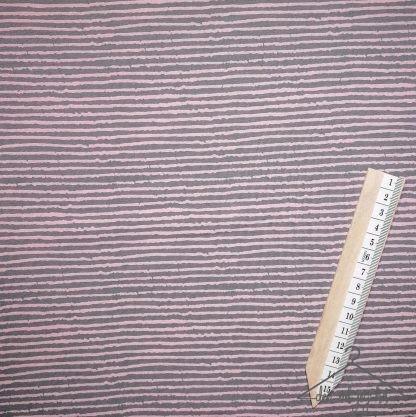 Rosa grå smale striper