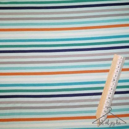 Blå grå oransje striper