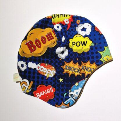 Hjelmlue pow bang boom