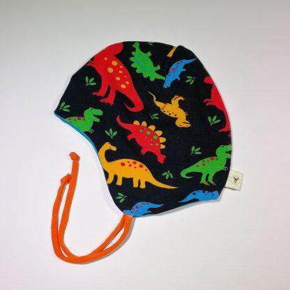 Hjelmlue med dinosaurer