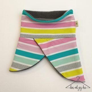 rund hals stripete fargerik