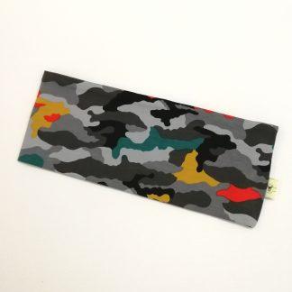 Army grå, grønn, gul og rød