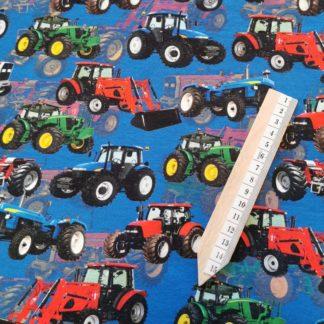 Traktor blå grønn blå