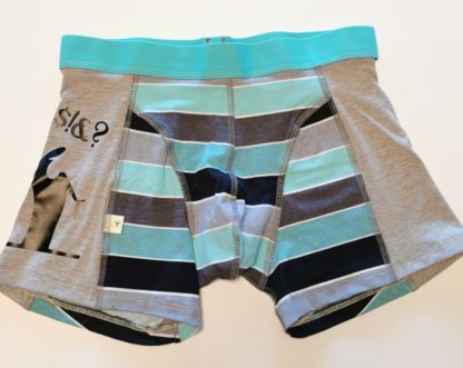 boxershorts med vinyltrykk av Streken
