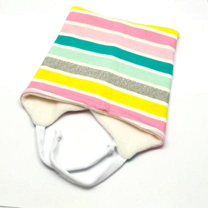 firkantlue Striper pastell
