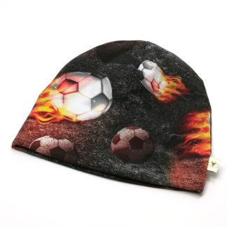 Fotball med flammer lue