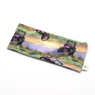 Traktor lilla solnedgang