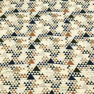 780212 Sand med blå/brune/grå trekanter