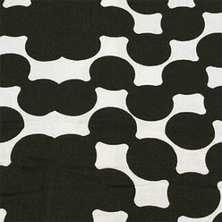 790090 Hvit med stort sort mønster