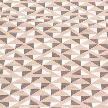 780090 Støvet rosa med grå/hvit trekanter