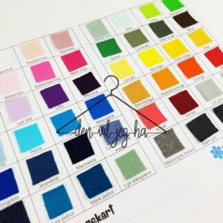 Stofflykke fargekart