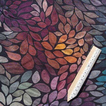 Multifargede blader stoff klær tøy