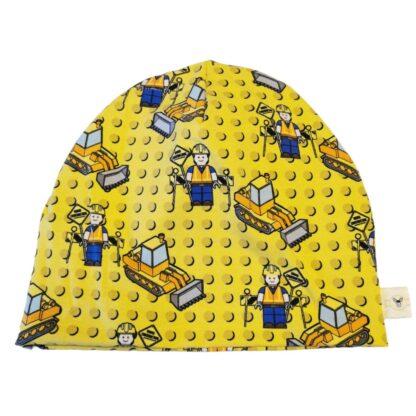 Lego maskiner gul lue barn