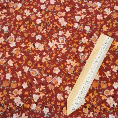 Blomster rustrød