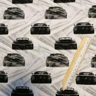 Sportsbil svart og hvit