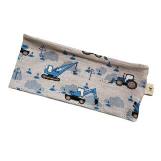 Maskiner blå og grå pannebånd barn